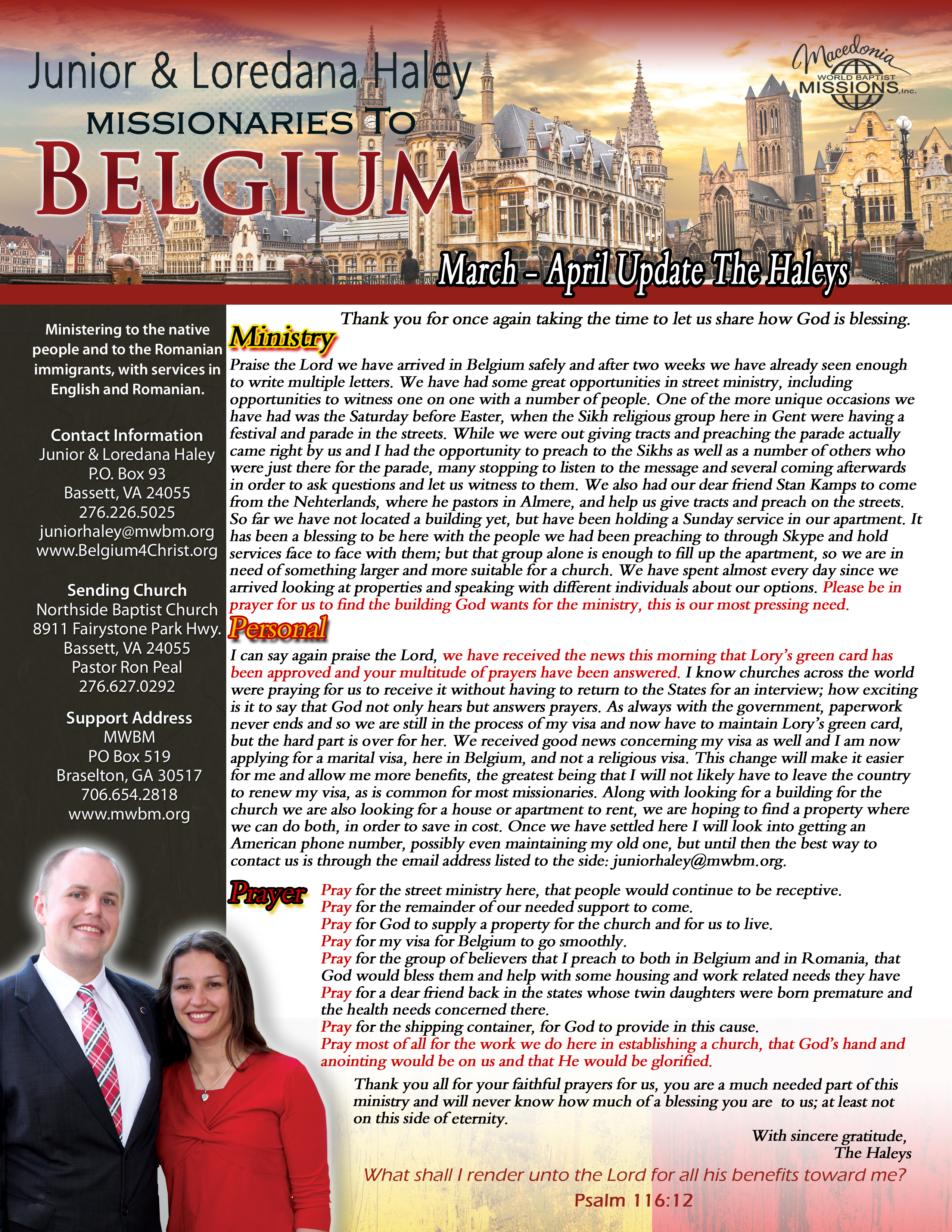 Haley prayer letter march april 2017 belgium for christ 2017 mar april prayer letter pg 2 expocarfo Image collections